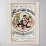 Anuncio de la peluquería de caballeros del vintage posters