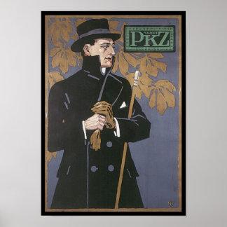 Anuncio de la ropa del vintage de PKZ Póster
