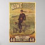 Anuncio de las bicicletas y de los triciclos de Ho Poster