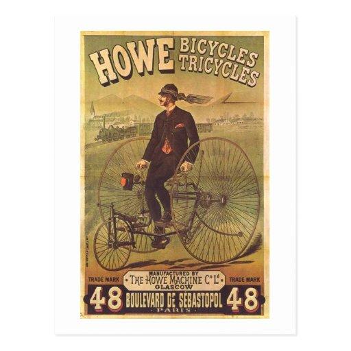 Anuncio de las bicicletas y de los triciclos de Ho Tarjetas Postales