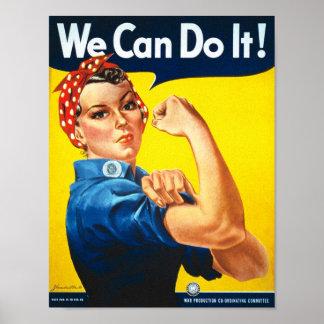 Anuncio de las derechas de la vintage mujer poster