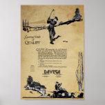 Anuncio de las mercancías de Davega del vintage Posters