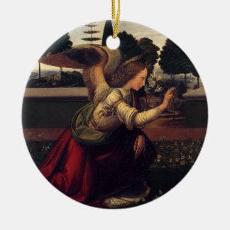 Anuncio de Leonardo da Vinci - ángel Adorno Navideño Redondo De Cerámica