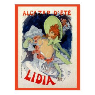 Anuncio de Lidia del d'été del Alcazar del vintage Postal