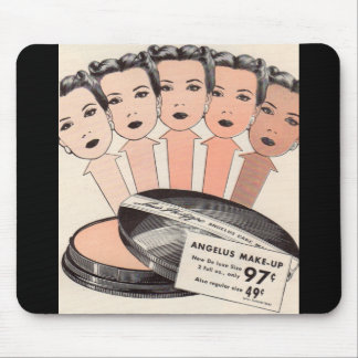 anuncio de los años 40 para el maquillaje del tapetes de raton