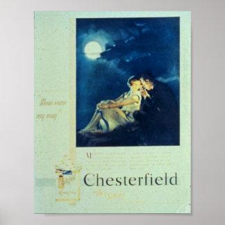 Anuncio de los cigarrillos de Chesterfield Póster