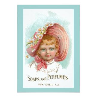 Anuncio de los jabones y de los perfumes del invitación 12,7 x 17,8 cm