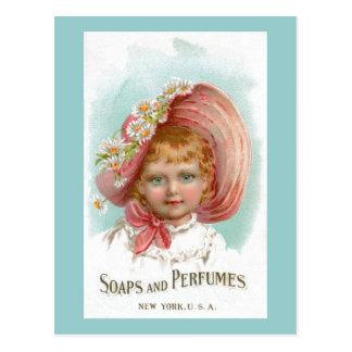 Anuncio de los jabones y de los perfumes del postal