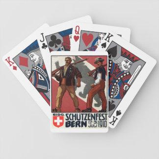 Anuncio de los juegos de Berna Suiza 1910 del vint Barajas