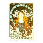 Anuncio de Mucha Sarah Bernhardt del nouveau del a Tarjetas Postales