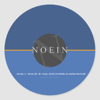 Anuncio de Noein - noviembre de 2009 Pegatinas Redondas