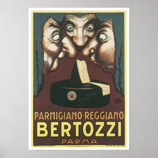 Anuncio de Parmagiana Reggiano Bertozzi Parma Poster