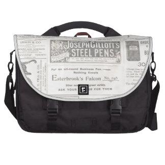 Anuncio de periódico del vintage bolsas para ordenador