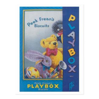 Anuncio de Playbox de las galletas de Frean de la  Postal