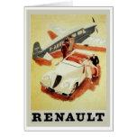 Anuncio de Renault del vintage (aeroplano) Felicitacion