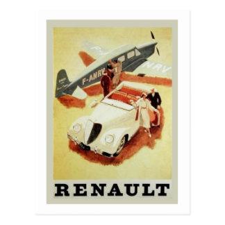 Anuncio de Renault del vintage (aeroplano) Tarjeta Postal