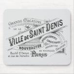 Anuncio del almacén grande de París del vintage Alfombrilla De Ratón