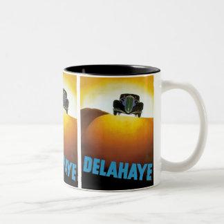Anuncio del automóvil de Delahay Tazas De Café