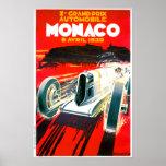 Anuncio del automóvil del vintage de Mónaco Grand  Impresiones