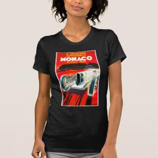 Anuncio del automóvil del vintage de Mónaco Grand Camiseta