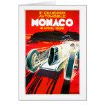 Anuncio del automóvil del vintage de Mónaco Grand  Tarjeton