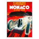 Anuncio del automóvil del vintage de Mónaco Grand  Felicitaciones