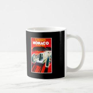 Anuncio del automóvil del vintage de Mónaco Grand  Taza