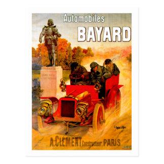 Anuncio del automóvil del vintage del ~ de Clément Postales
