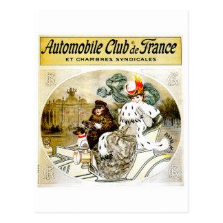 Anuncio del automóvil del vintage del ~ del club postal