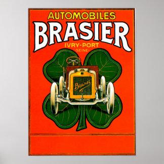 Anuncio del automóvil del vintage del ~ del coche  póster