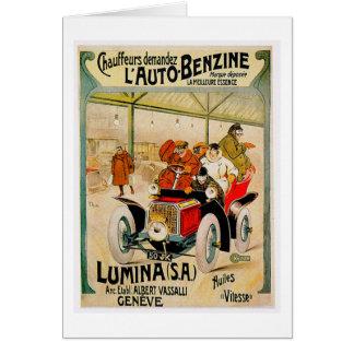 Anuncio del automóvil del vintage del ~ Lumina Tarjeta De Felicitación