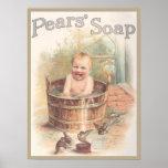 Anuncio del bebé de Sopa de las peras Póster