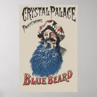 Anuncio del Bluebeard del estilo del Victorian Poster