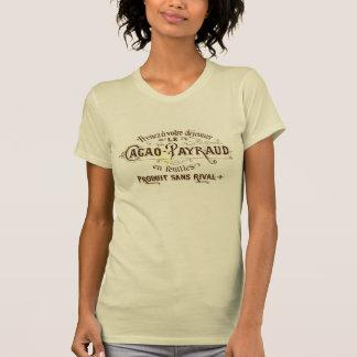 Anuncio del cacao del chocolate del vintage, grung camisetas