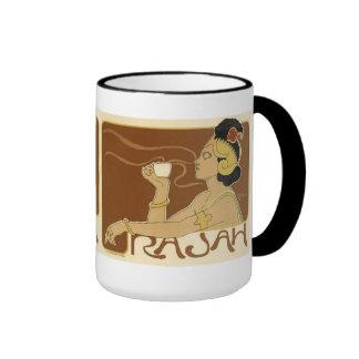 Anuncio del café del vintage de Rajah Taza De Dos Colores