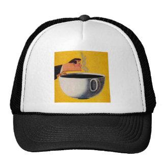 Anuncio del café del vintage gorras