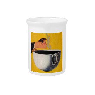 Anuncio del café del vintage jarras de beber