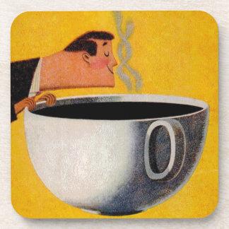Anuncio del café del vintage posavaso