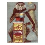 Anuncio del café del vintage postal