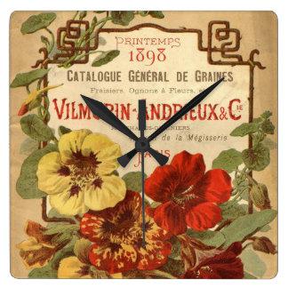 Anuncio del catálogo de semilla de reloj cuadrado