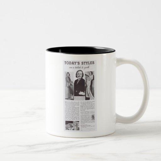 Anuncio del cereal de Joan Crawford Tazas De Café