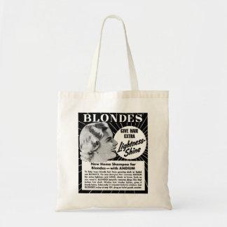 Anuncio del champú de los Blondes 40s del kitsch d Bolsa Tela Barata