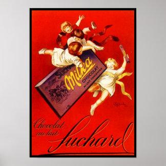 Anuncio del chocolate de Milka del vintage Impresiones