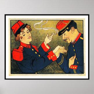 Anuncio del cigarrillo del vintage:  póster