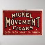 Anuncio del cigarro del vintage: Movimiento del ní Impresiones