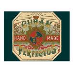Anuncio del cigarro para la etiqueta del tabaco de tarjetas postales
