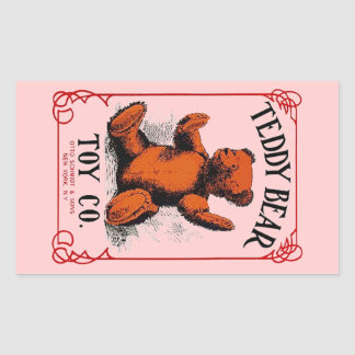 Anuncio del Co del juguete del oso de peluche de Rectangular Pegatina
