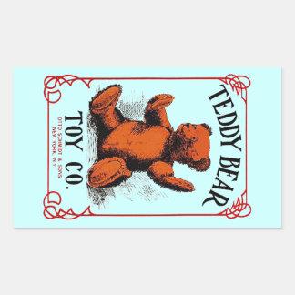 Anuncio del Co del juguete del oso de peluche de Pegatina Rectangular