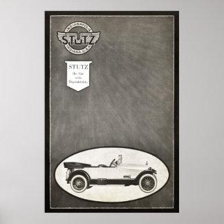 Anuncio del coche de Stutz del vintage a partir de Póster