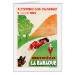 Anuncio del coche del vintage del ~ del club del tarjeta pequeña
